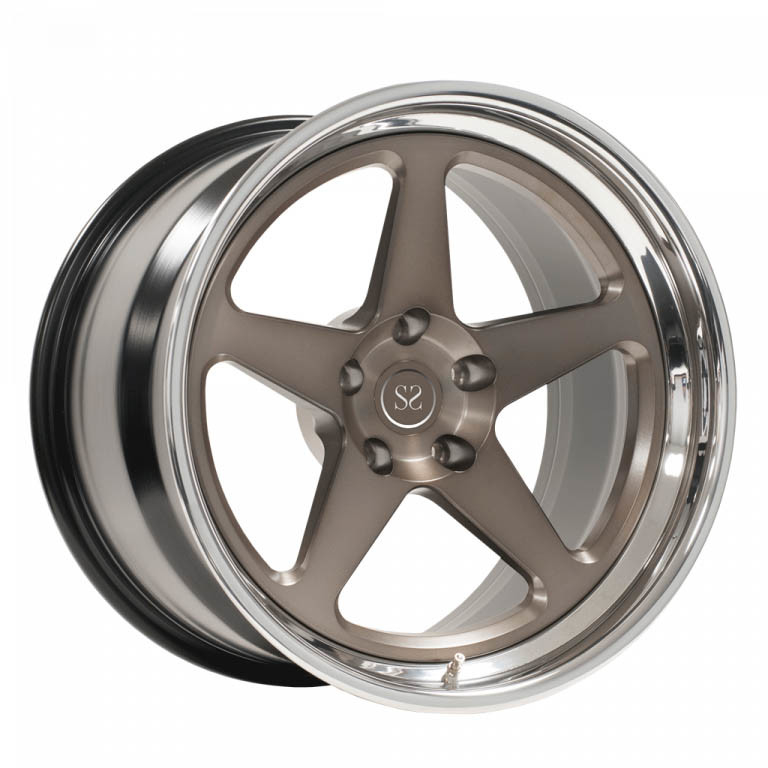 20 inch 3-piece forged deep lip wheels negative offset 5*120 rim
