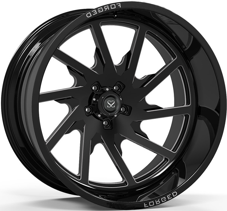 Off Rad Rims 24x12 and 24x14 Gloss Black Machined Deep Lip Customized 4x4 Wheels Rim